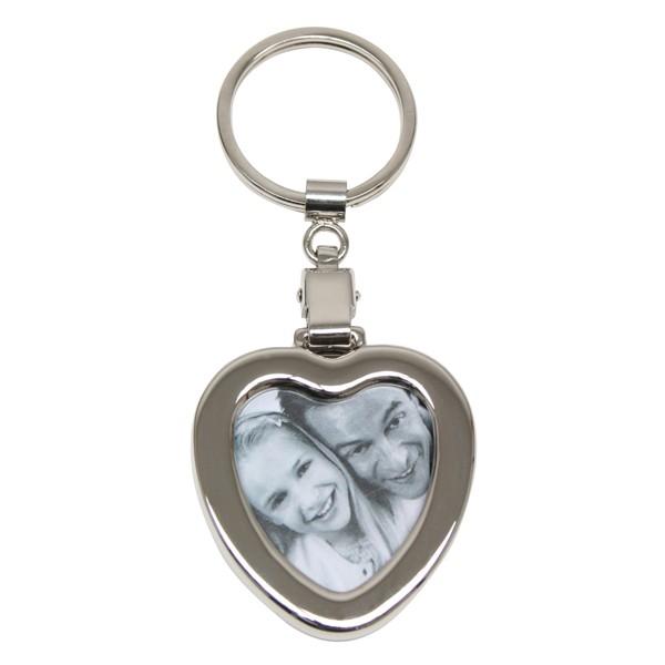 porte-clé cœur avec photo