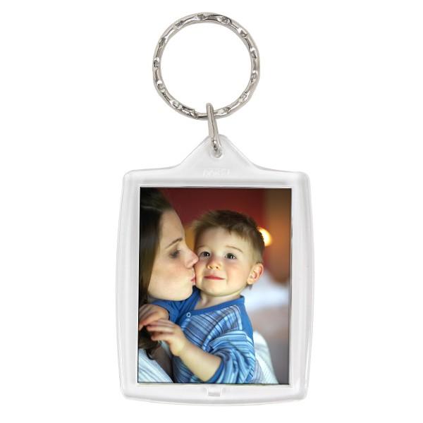 photo enfants dans un porte-clé